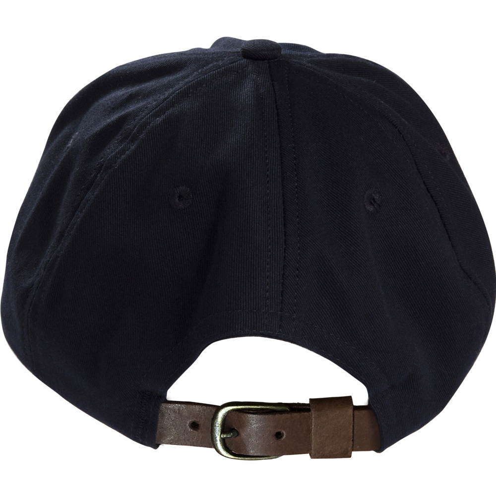 Black Baseball Cap With Leather Strap - PROUD TO BUY AMERICAN e8f2b78c7aa