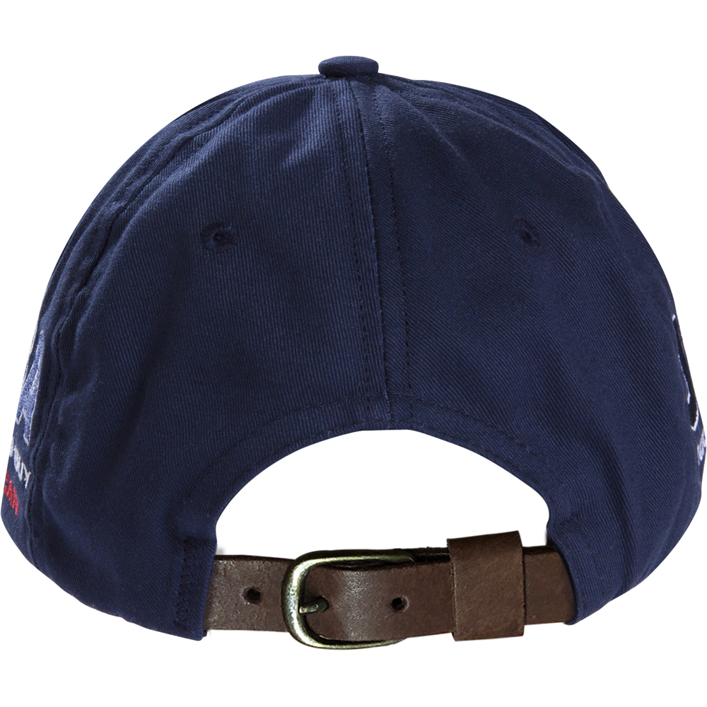 Navy Blue Baseball Cap With Leather Strap - PROUD TO BUY AMERICAN 9fc0461b5ab